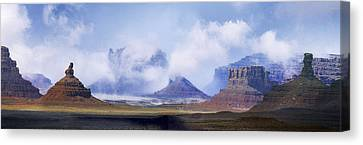 Valley Of The Gods Canvas Print by Leland D Howard