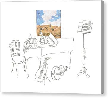 Musical Still Life For Valley Of The Moon Music Festival Canvas Print