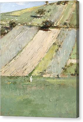 Valley Of The Seine, Giverny Canvas Print by Theodore Robinson
