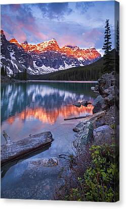 Valley Of The Ten Peaks Canvas Print by Tomas Nevesely