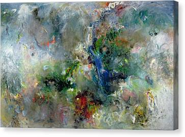 Non-objective Art Canvas Print - Valley Of The Waterfalls by Jane Deakin