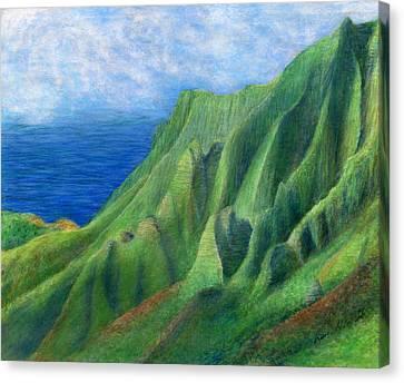 Valley Sunlight Canvas Print by Kenneth Grzesik