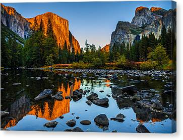 Reflection Canvas Print - Valley View Yosemite National Park by Scott McGuire