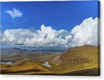 Canvas Print featuring the photograph Valleys And Mountains In County Kerry On A Summer Day by Semmick Photo