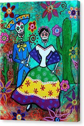 Filipina Canvas Print - Vamos  A Bailar by Pristine Cartera Turkus