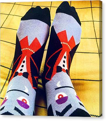 #vampire #socks #dracula #quirky Canvas Print by Senjuti Kundu