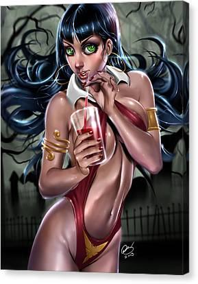 Vampirella Canvas Print by Pete Tapang