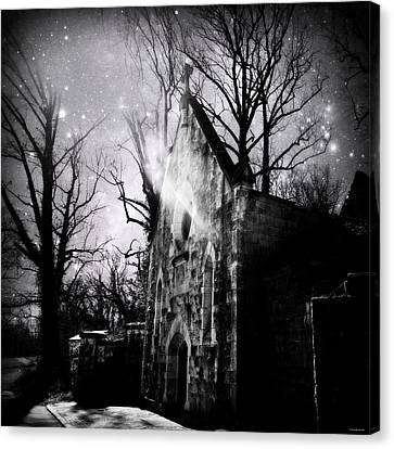 Vampiric Tendencies Canvas Print by Brenda Conrad