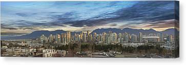 Van City Sunrise Canvas Print by David Gn