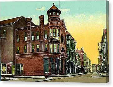 Van Curler Opera House In Schenectady N Y 1910 Canvas Print
