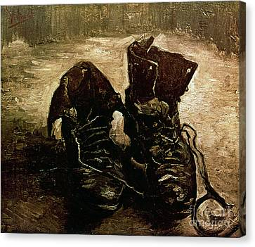 Van Gogh Boots 1886 Canvas Print by Granger