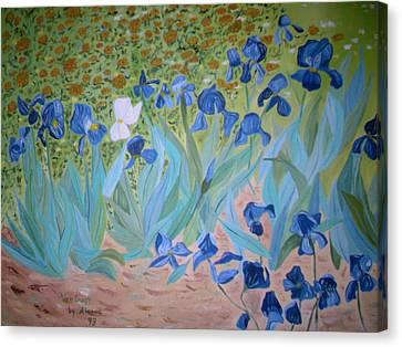Van Gogh Iris By Alanna Canvas Print by Alanna Hug-McAnnally