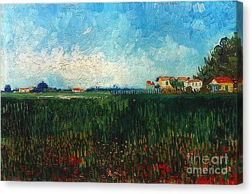 Van Gogh: Landscape, 1888 Canvas Print by Granger
