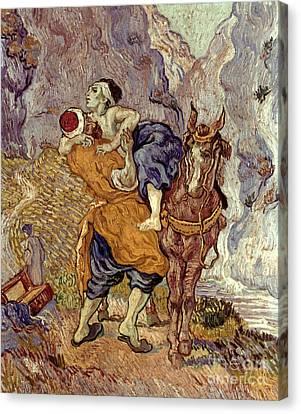 Van Gogh: Samaritan, 1890 Canvas Print by Granger