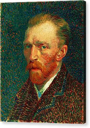 Cardboard Canvas Print - Van Gogh Self Portrait by Pg Reproductions