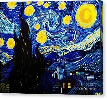 Van Gogh Starry Night  Canvas Print by Scott D Van Osdol