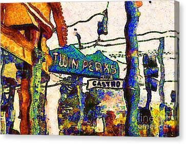 Van Gogh Takes A Wrong Turn And Discovers The Castro In San Francisco . 7d7547 Canvas Print