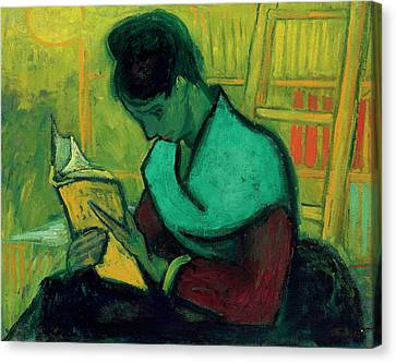 Van Gogh The Novel Reader Canvas Print by Vincent Van Gogh