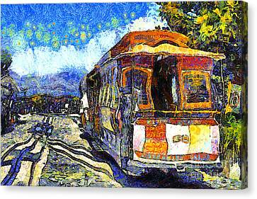 Van Gogh Vacations In San Francisco 7d14099 Canvas Print by Wingsdomain Art and Photography