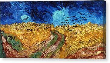 Van Gogh: Wheatfield, 1890 Canvas Print by Granger
