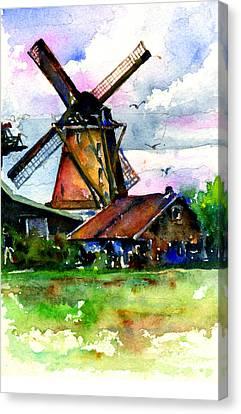 Van Gough Windmill Canvas Print by John D Benson