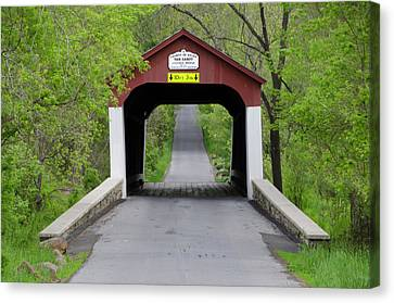 Van Sandt Covered Bridge - Bucks County Pa Canvas Print