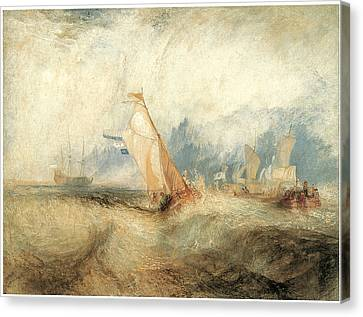 Van Tromp Going About To Please His Masters Canvas Print by J M W Turner