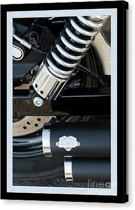 Canvas Print featuring the photograph Vance And Hines by Wendy Wilton