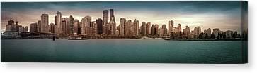 Vancouver Bc City Skyline Canvas Print by Art Spectrum