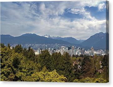 Vancouver Bc Skyline Daytime View Canvas Print by David Gn