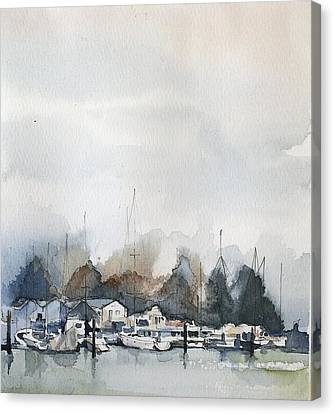 Vancouver Boats Canvas Print by Stephanie Aarons