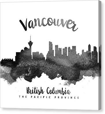 British Columbia Canvas Print - Vancouver British Columbia Skyline 18 by Aged Pixel