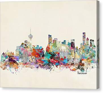 Vancouver Canvas Print - Vancouver Canada Skyline by Bleu Bri