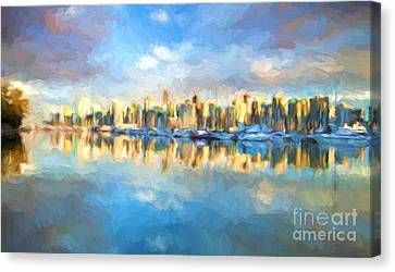 Vancouver City Canvas Print by Jim  Hatch