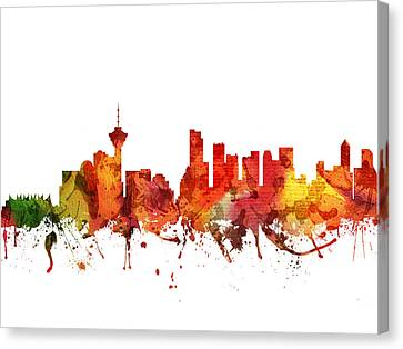British Columbia Canvas Print - Vancouver Cityscape 04 by Aged Pixel