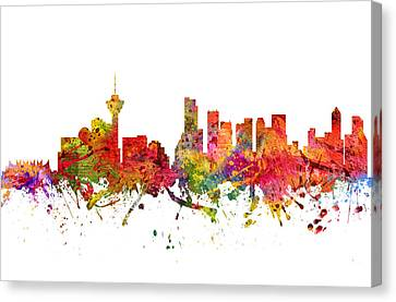 Vancouver Cityscape 08 Canvas Print by Aged Pixel