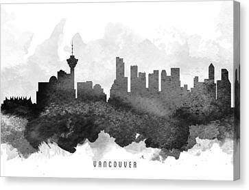 British Columbia Canvas Print - Vancouver Cityscape 11 by Aged Pixel