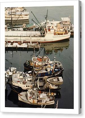 Vancouver Harbor Fishin Fleet Canvas Print by Jack Pumphrey