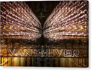 Vancouver Lightshow Canvas Print by Barbara  White