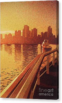 Canvas Print featuring the painting Vancouver Morning- Bc by Ryan Fox