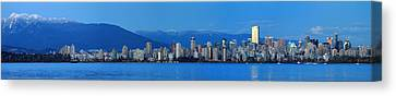 Vancouver Panorama   This Can Be Printed Very Large Canvas Print by Pierre Leclerc Photography