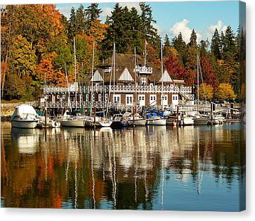 Vancouver Rowing Club In Autumn Canvas Print