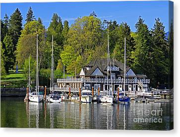 Vancouver Rowing Club In Stanley Park Canvas Print by Charline Xia