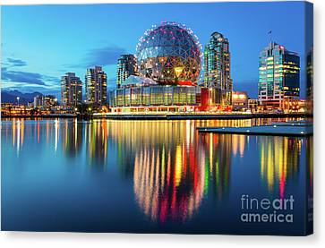 Vancouver Science World Canvas Print by Inge Johnsson