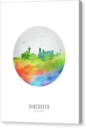 Vancouver Skyline Cabcva20 Canvas Print by Aged Pixel
