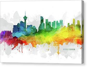 Vancouver Skyline Mmr-cabcva05 Canvas Print by Aged Pixel