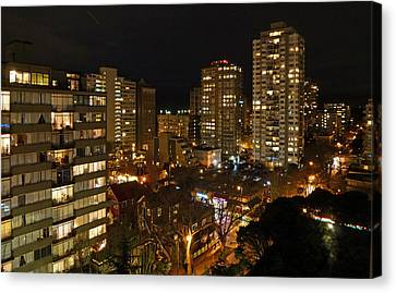 Vancouver Skyline Canvas Print by Nancy Harrison