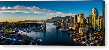 Vancouver Sunset Canvas Print by Ian Stotesbury