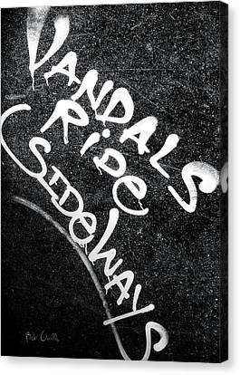 Vandals Ride Sideways Canvas Print by Bob Orsillo