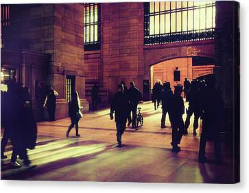 Canvas Print featuring the photograph Grand Central Rush by Jessica Jenney